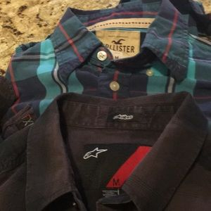 2pc Hollister & Stars L/S Plaid Shirts. SzM pre💙